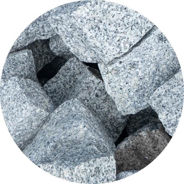 Palisada granitowa łupana 10x10x30-40 mm